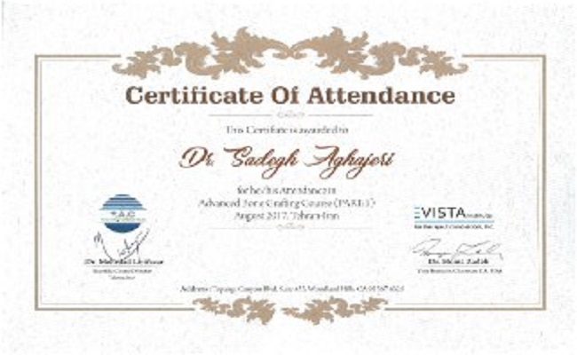 certificate of attendant